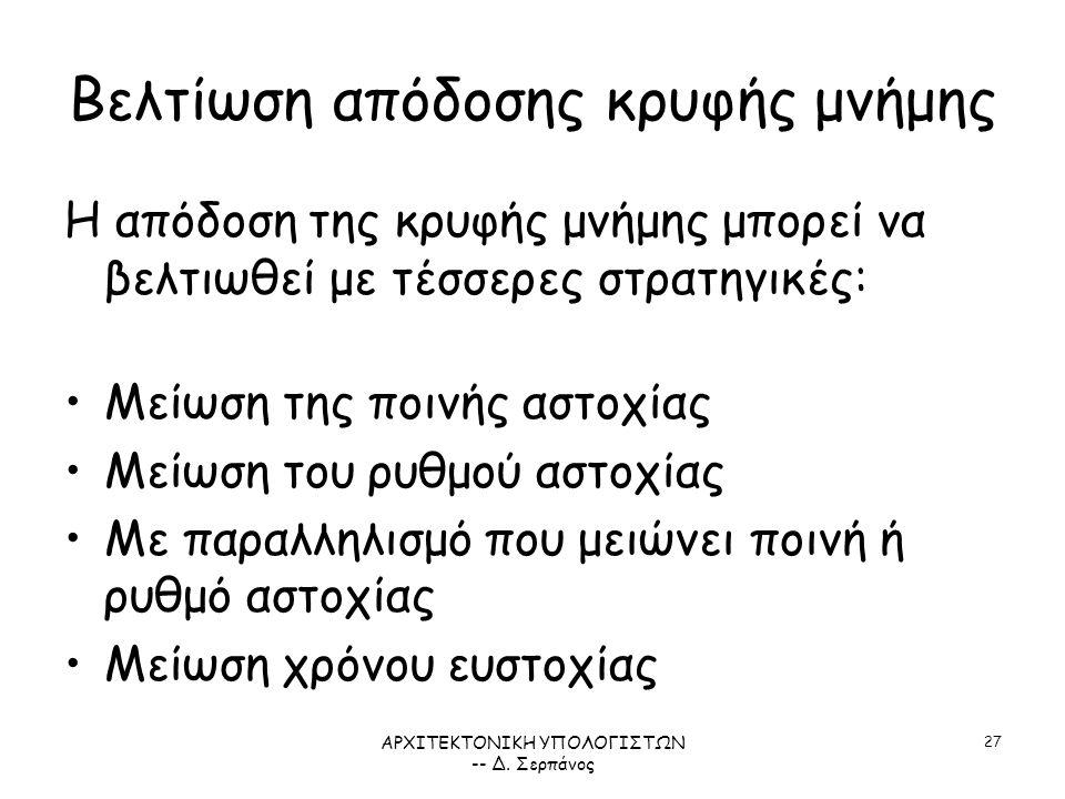 ΑΡΧΙΤΕΚΤΟΝΙΚΗ ΥΠΟΛΟΓΙΣΤΩΝ -- Δ.