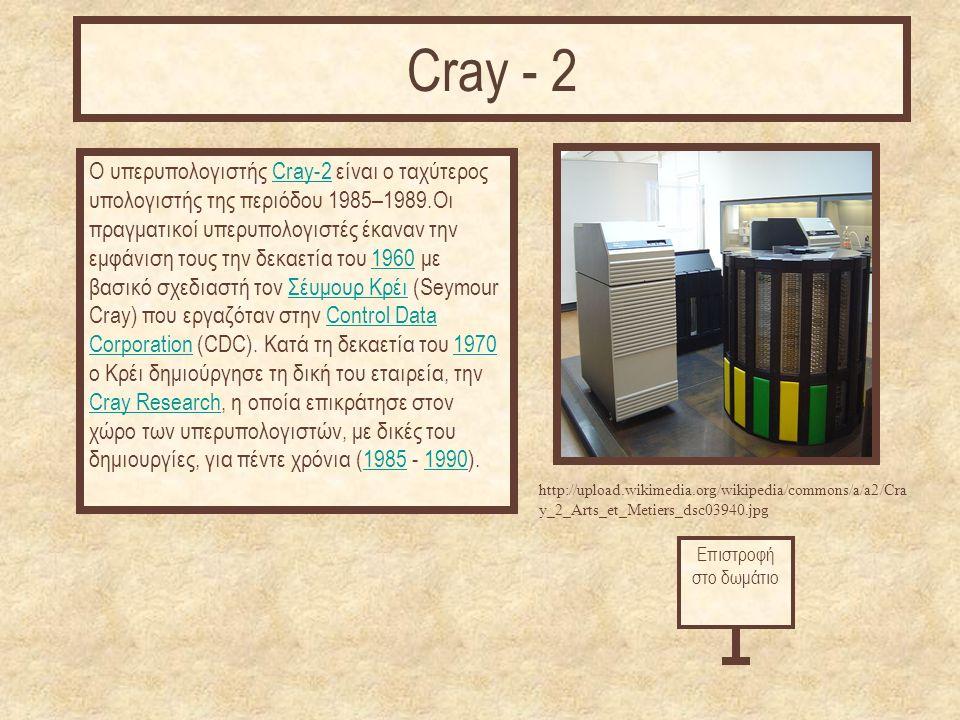 Ο υπερυπολογιστής Cray-2 είναι ο ταχύτερος υπολογιστής της περιόδου 1985–1989.Οι πραγματικοί υπερυπολογιστές έκαναν την εμφάνιση τους την δεκαετία του