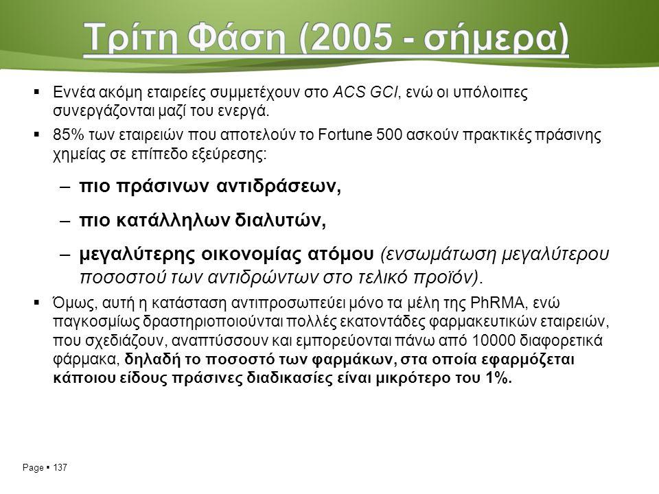 Page  137  Εννέα ακόμη εταιρείες συμμετέχουν στο ACS GCI, ενώ οι υπόλοιπες συνεργάζονται μαζί του ενεργά.