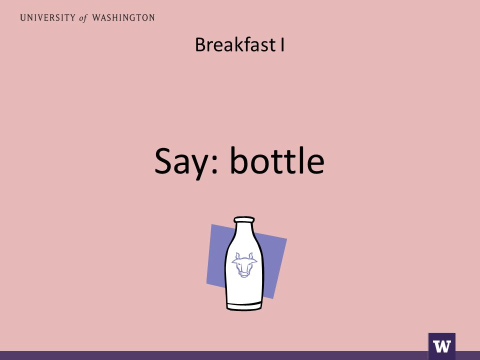 Breakfast I Say: bottle