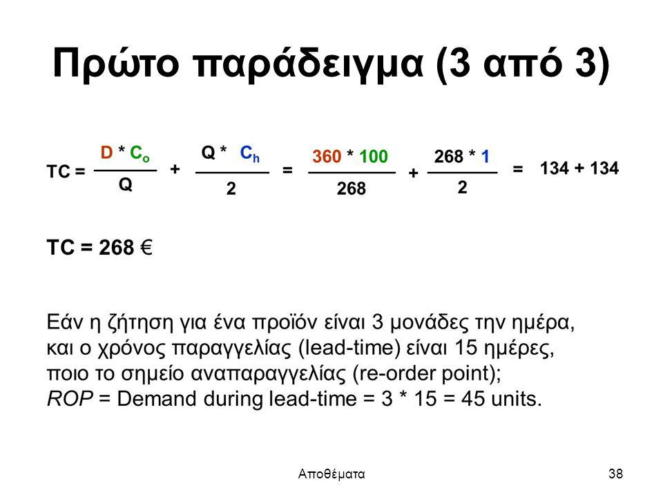 Πρώτο παράδειγμα (3 από 3) Αποθέματα38