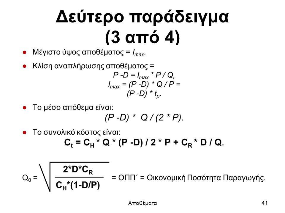 Δεύτερο παράδειγμα (3 από 4) Αποθέματα41