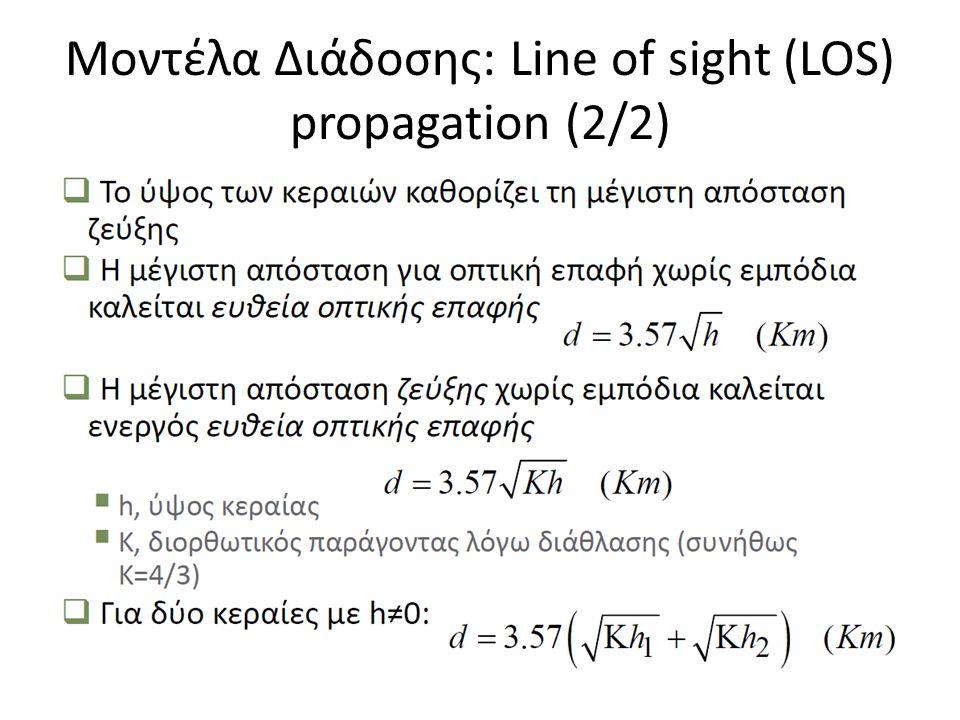 Μοντέλα Διάδοσης: Line of sight (LOS) propagation (2/2)
