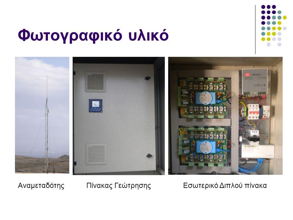 Φωτογραφικό υλικό ΑναμεταδότηςΠίνακας ΓεώτρησηςΕσωτερικό Διπλού πίνακα