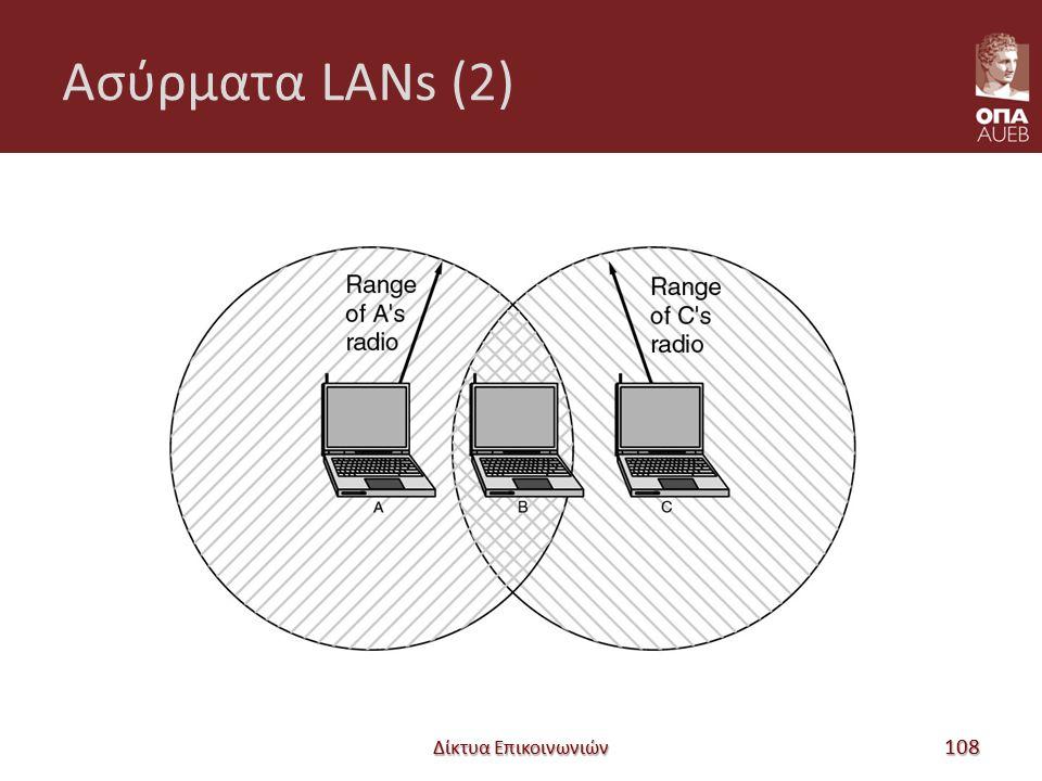 Ασύρματα LANs (2) Δίκτυα Επικοινωνιών 108