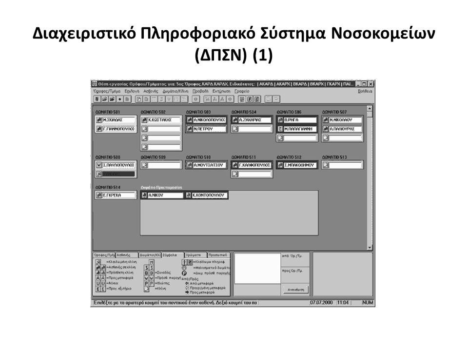 Διαχειριστικό Πληροφοριακό Σύστημα Νοσοκομείων (ΔΠΣΝ) (1)
