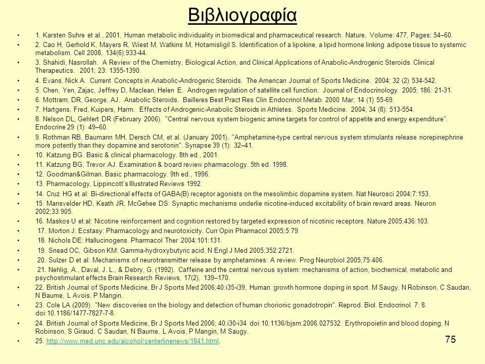 75 Βιβλιογραφία 1. Karsten Suhre et al., 2001.