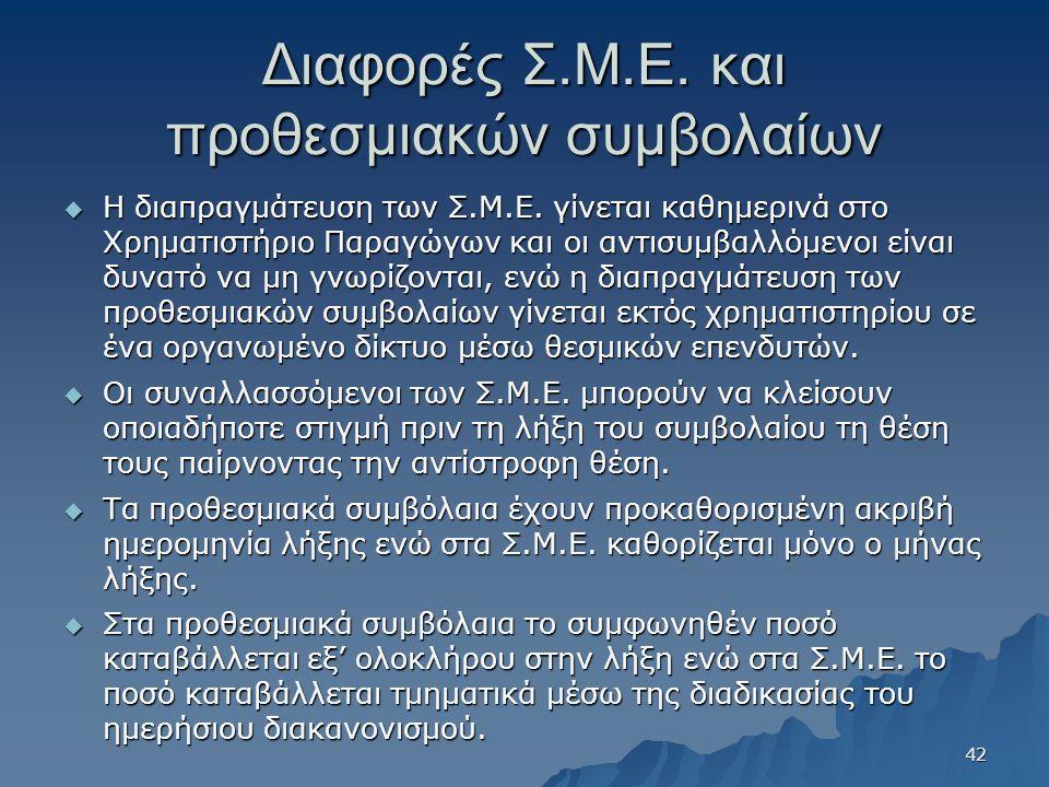 Διαφορές Σ.Μ.Ε. και προθεσμιακών συμβολαίων  Η διαπραγμάτευση των Σ.Μ.Ε.