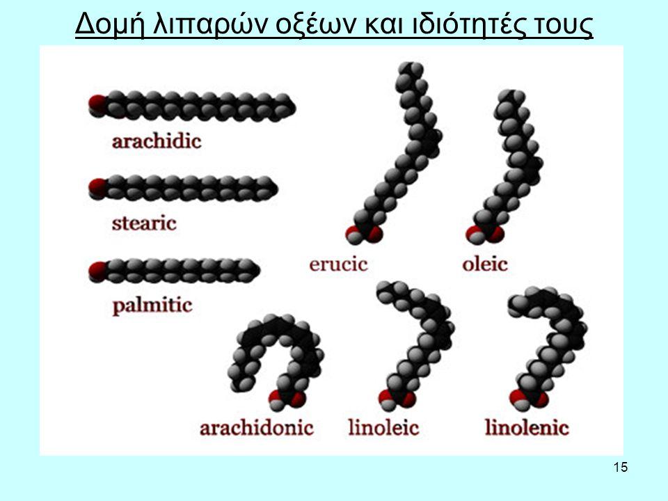 15 Δομή λιπαρών οξέων και ιδιότητές τους