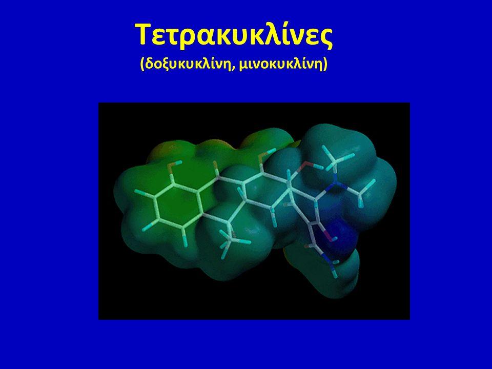 Τετρακυκλίνες (δοξυκυκλίνη, μινοκυκλίνη)