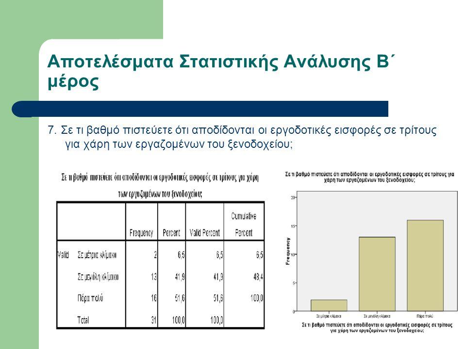 Αποτελέσματα Στατιστικής Ανάλυσης Β΄ μέρος 7.