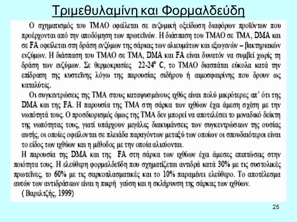 25 Τριμεθυλαμίνη και Φορμαλδεύδη