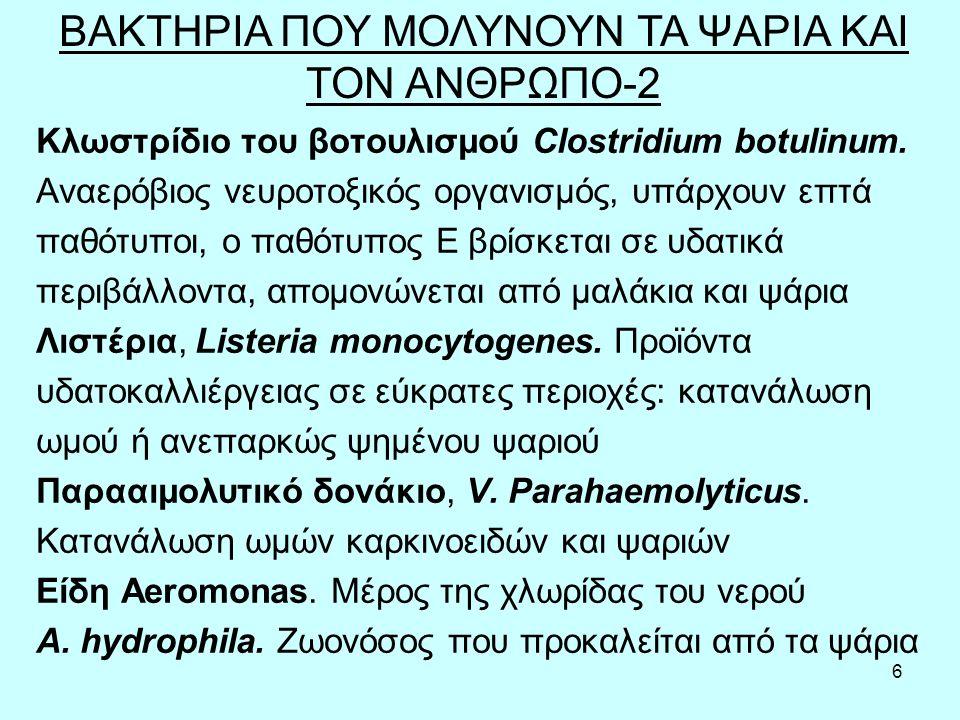 6 Κλωστρίδιο του βοτουλισμού Clostridium botulinum.