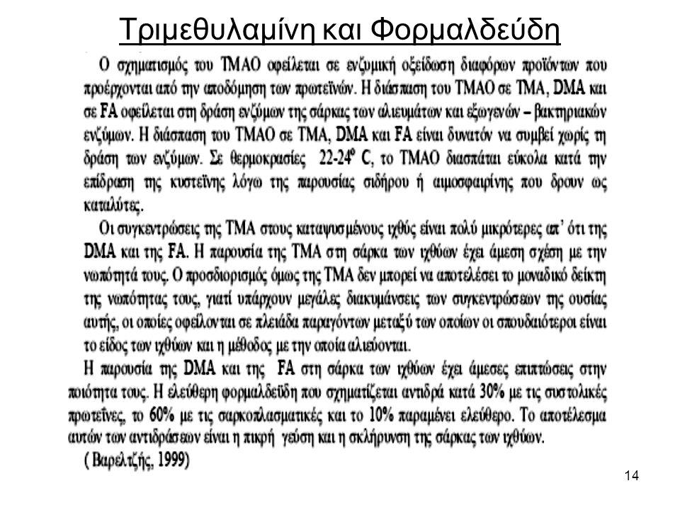 14 Τριμεθυλαμίνη και Φορμαλδεύδη