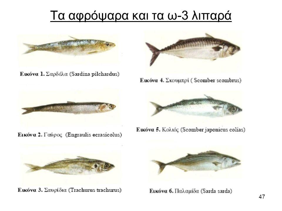 47 Τα αφρόψαρα και τα ω-3 λιπαρά