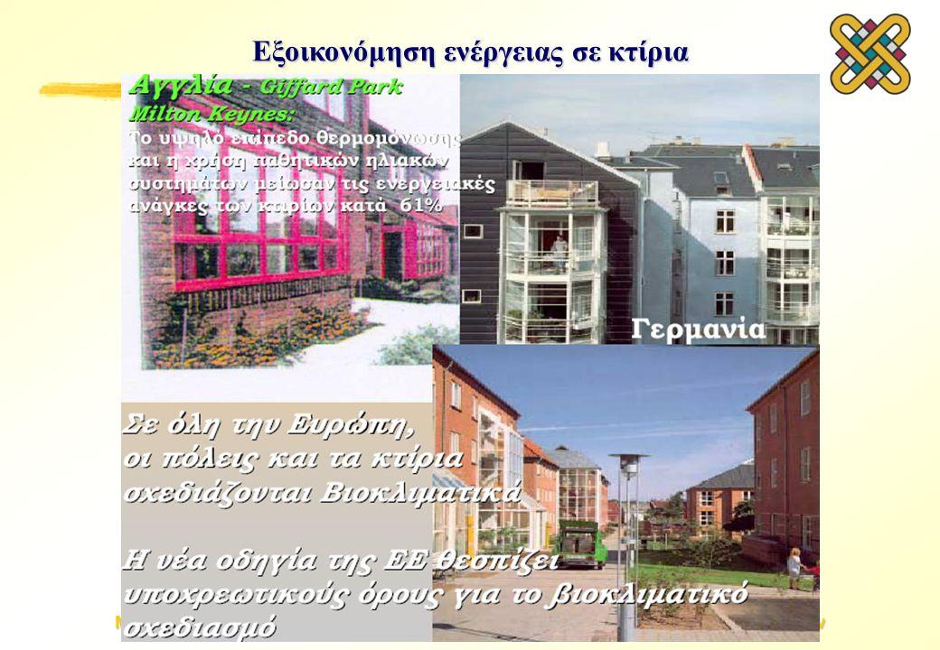 Μεθοδολογίες Εξοικονόμησης Ενέργειας & Βελτιστοποίησης Βιομηχανικών Συστημάτων Εξοικονόμηση ενέργειας σε κτίρια