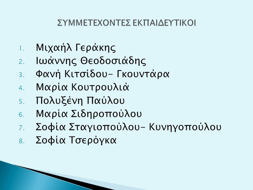 1. Μιχαήλ Γεράκης 2. Ιωάννης Θεοδοσιάδης 3. Φανή Κιτσίδου- Γκουντάρα 4.