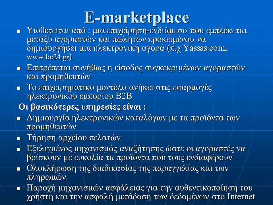 Γιατί e-marketplaces.
