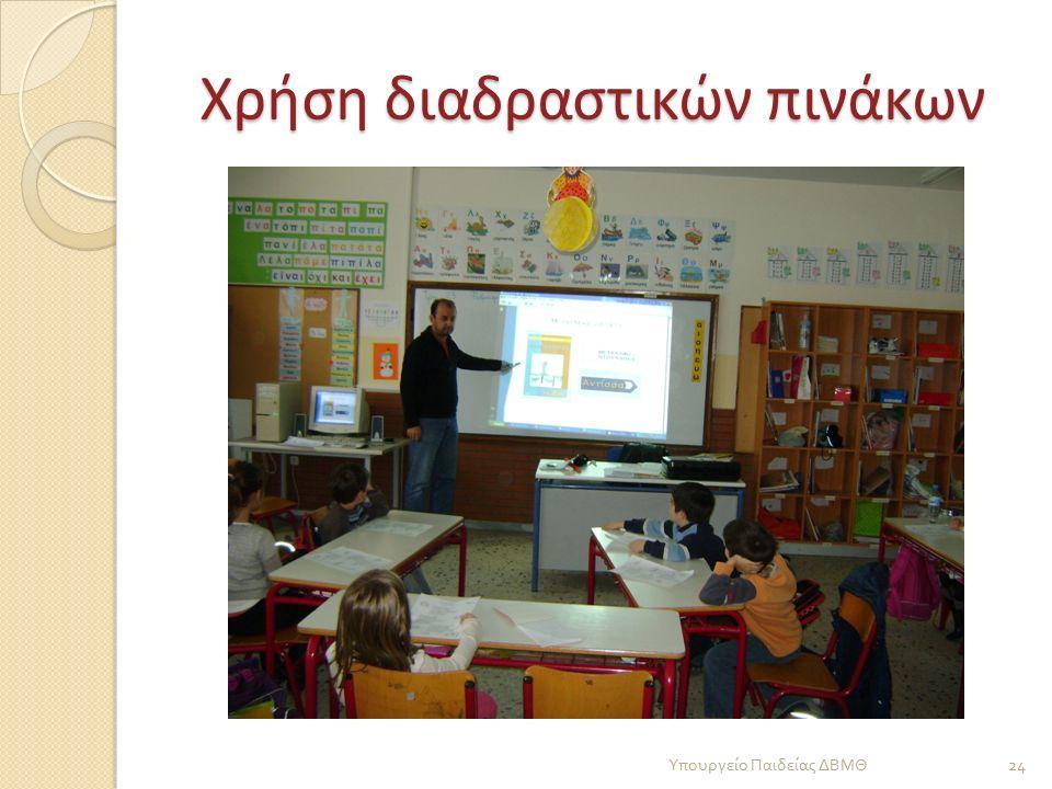 Χρήση διαδραστικών πινάκων Υπουργείο Παιδείας ΔΒΜΘ 24