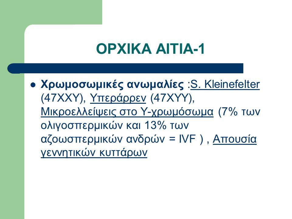 ΟΡΧΙΚΑ ΑΙΤΙΑ-1 Χρωμοσωμικές ανωμαλίες :S.