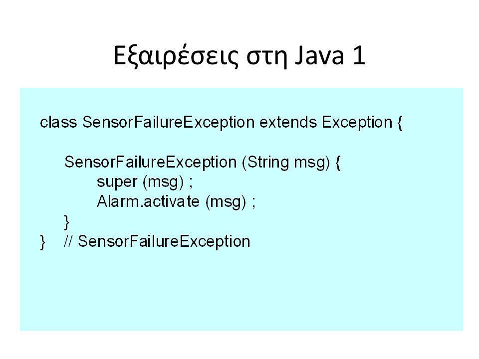 Εξαιρέσεις στη Java 1