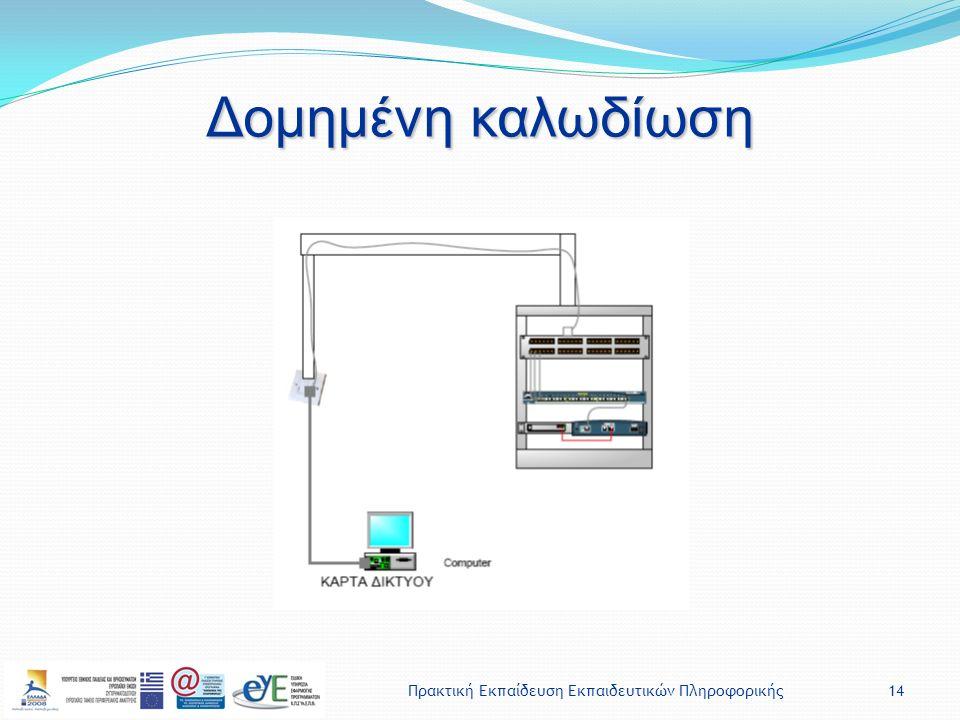 Πρακτική Εκπαίδευση Εκπαιδευτικών Πληροφορικής14 Δομημένη καλωδίωση