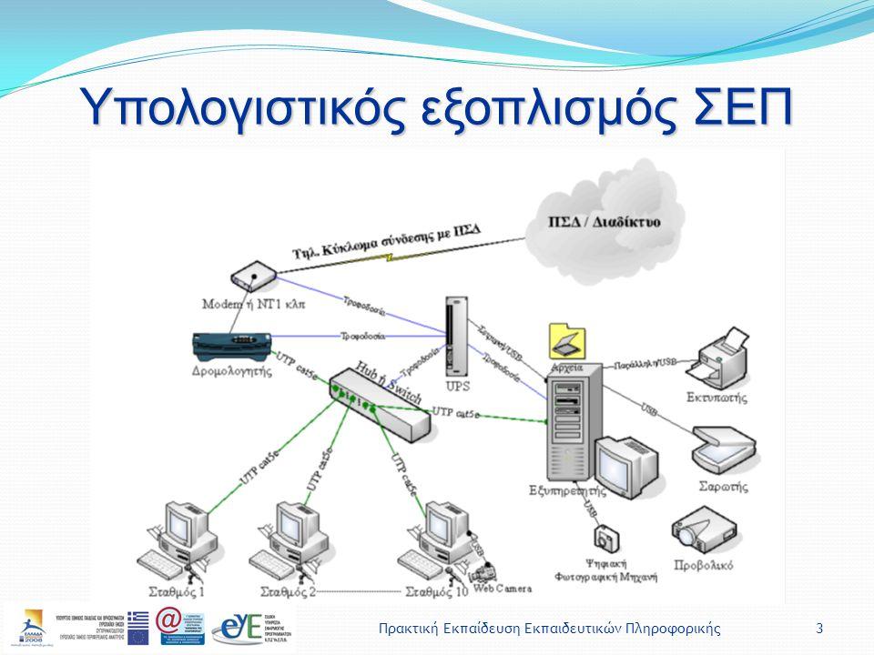 Πρακτική Εκπαίδευση Εκπαιδευτικών Πληροφορικής3 Υπολογιστικός εξοπλισμός ΣΕΠ