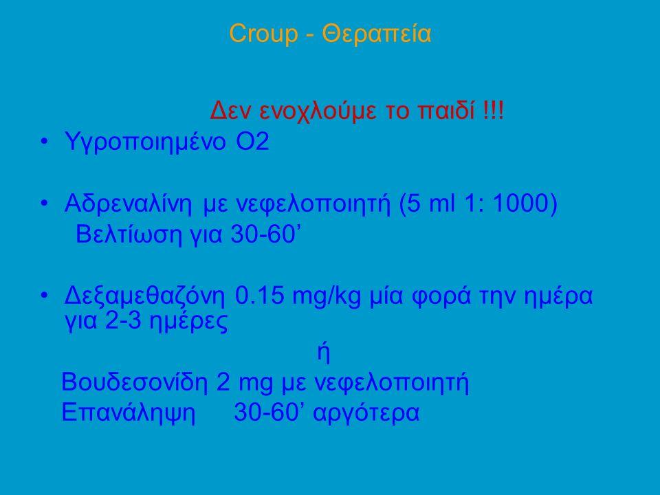 Croup - Θεραπεία Δεν ενοχλούμε το παιδί !!.