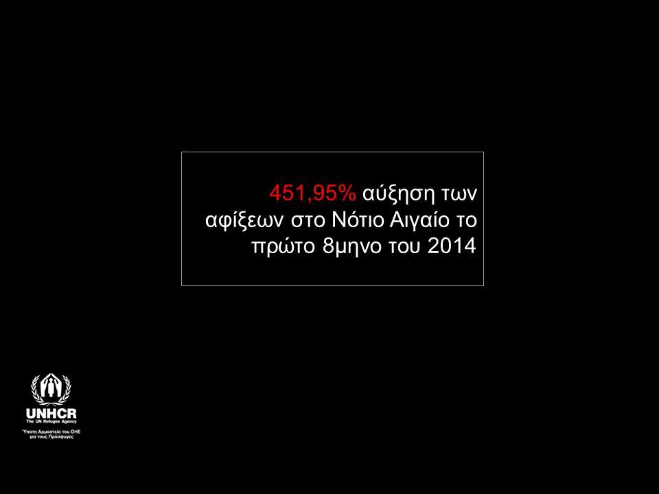 451,95% αύξηση των αφίξεων στο Νότιο Αιγαίο το πρώτο 8μηνο του 2014