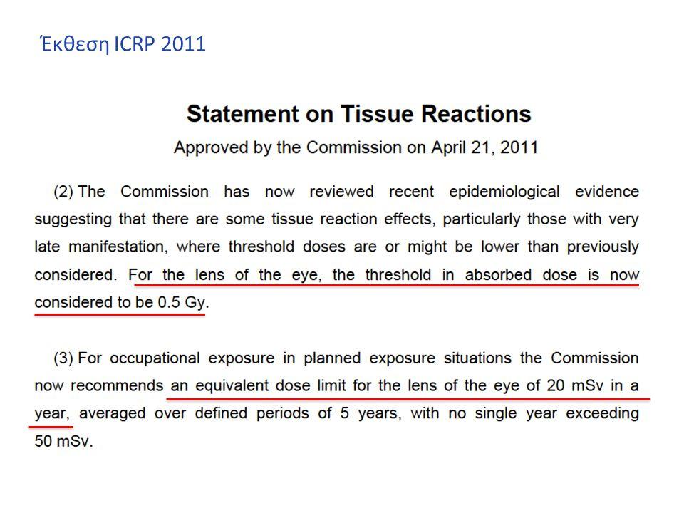 Έκθεση ICRP 2011