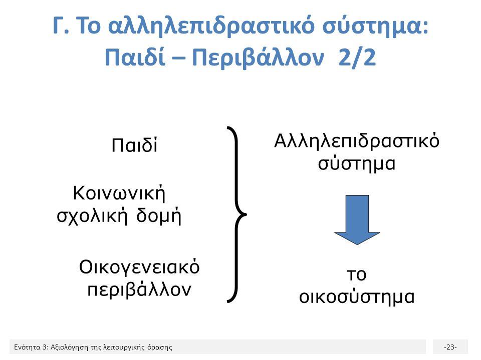Ενότητα 3: Αξιολόγηση της λειτουργικής όρασης-23- Γ.