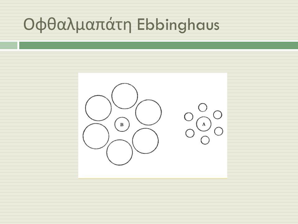 Οφθαλμαπάτη Ebbinghaus