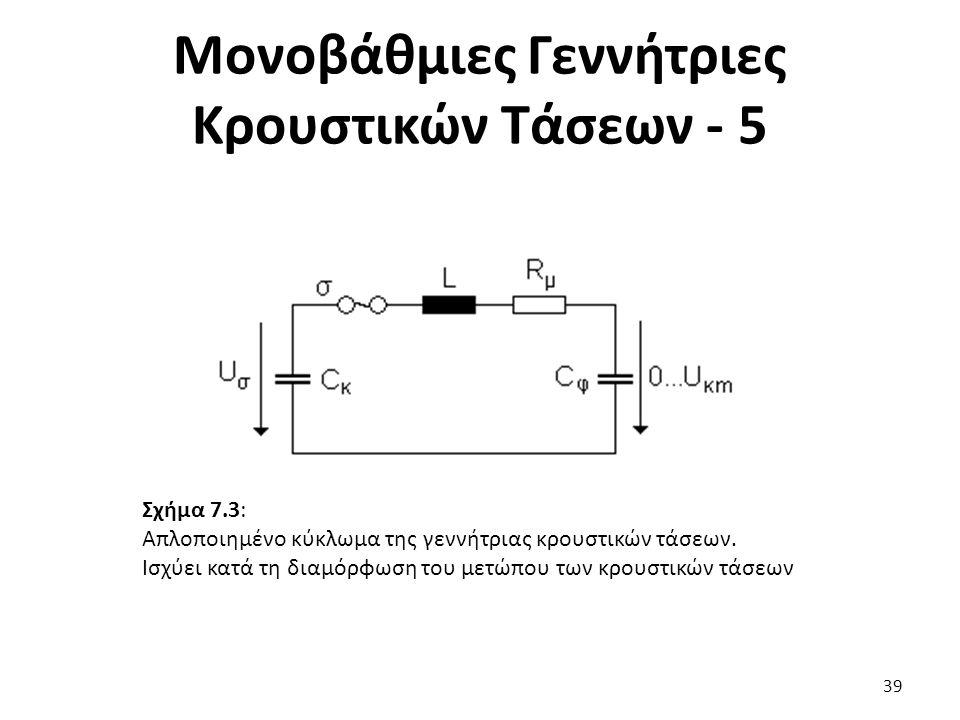 Μονοβάθμιες Γεννήτριες Κρουστικών Τάσεων - 5 Σχήμα 7.3: Απλοποιημένο κύκλωμα της γεννήτριας κρουστικών τάσεων.