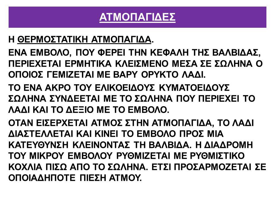 Η ΘΕΡΜΟΣΤΑΤΙΚΗ ΑΤΜΟΠΑΓΙΔΑ.