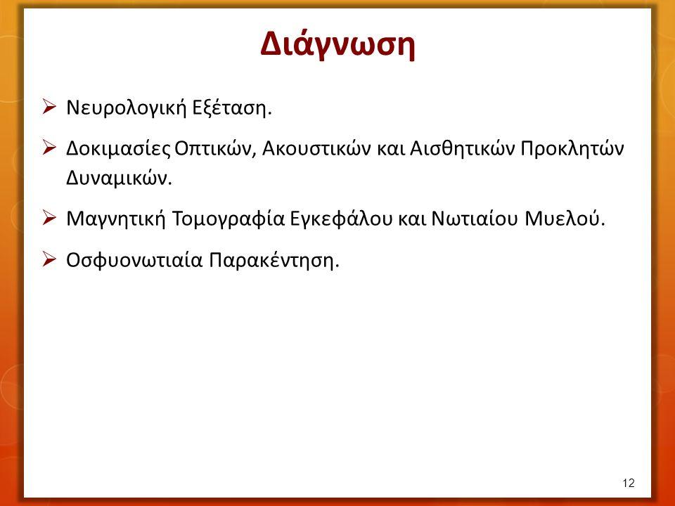 Διάγνωση  Νευρολογική Εξέταση.