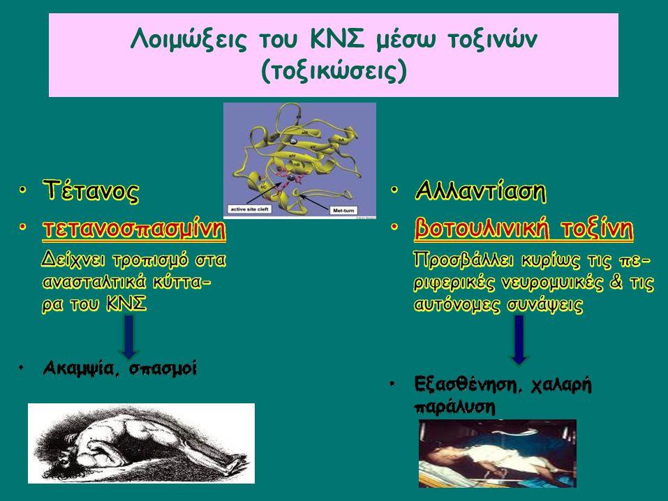 Λοιμώξεις του ΚΝΣ μέσω τοξινών (τοξικώσεις)