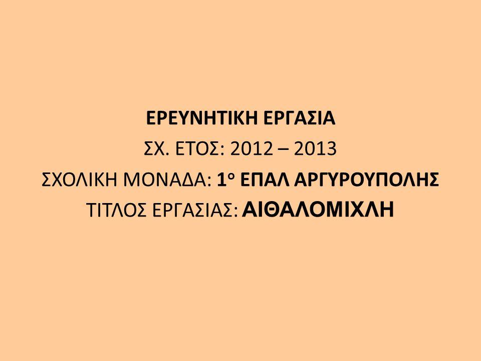 ΕΡΕΥΝΗΤΙΚΗ ΕΡΓΑΣΙΑ ΣΧ.