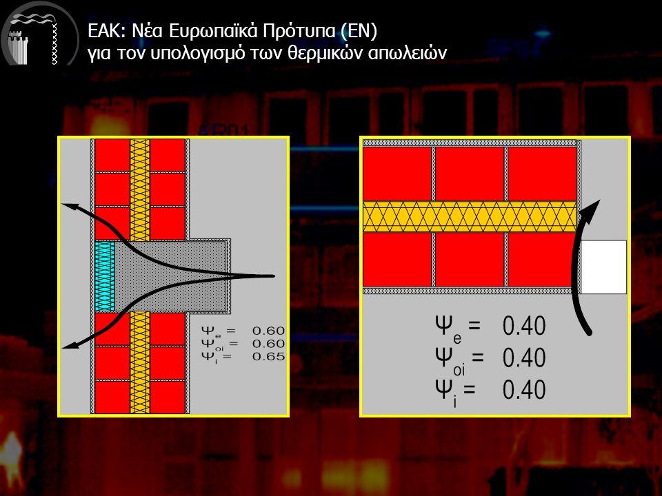 ΕΑΚ: Νέα Ευρωπαϊκά Πρότυπα (EN) για τον υπολογισμό των θερμικών απωλειών
