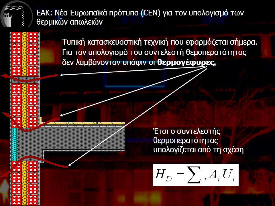 ΕΑΚ: Νέα Ευρωπαϊκά πρότυπα (CEN) για τον υπολογισμό των θερμικών απωλειών Τυπική κατασκευαστική τεχνική που εφαρμόζεται σήμερα.