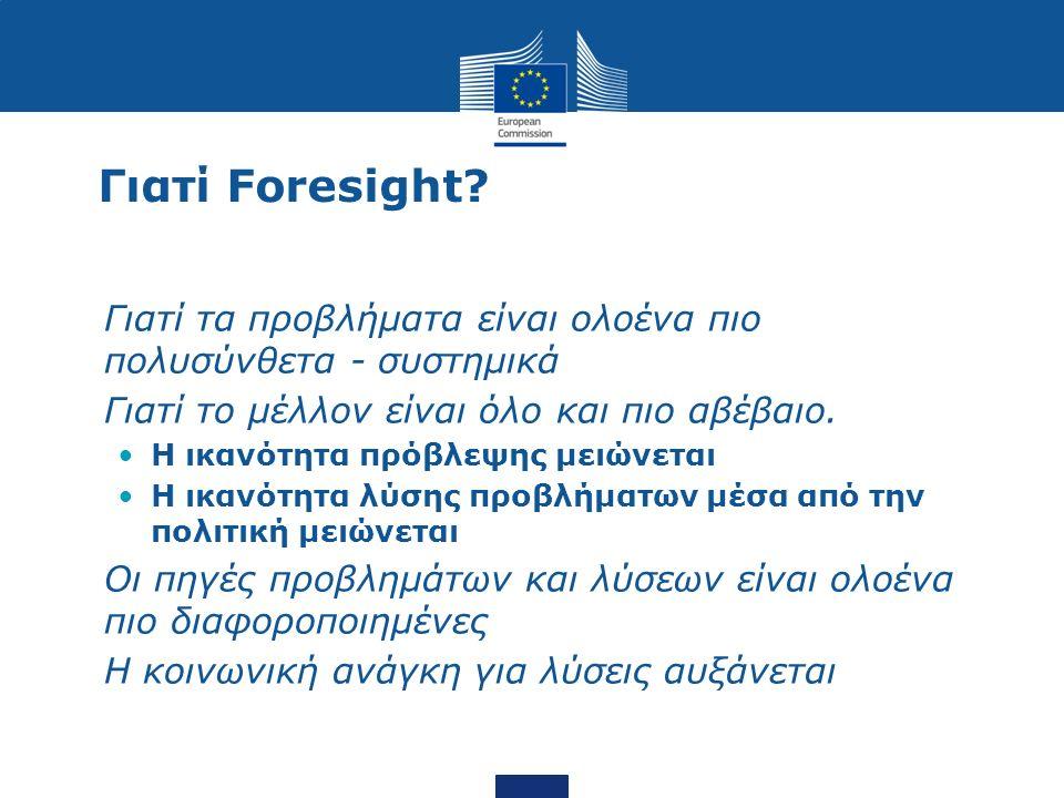 Το μέλον της γνώσης 3 megatrends: παγκοσμιοποίηση, δημογραφικές τάσεις και η επιτάχυνση της τεχνολογίας 2 Σενάρια για Ευρωπαϊκή ΕΤΑ και ΑΕ.