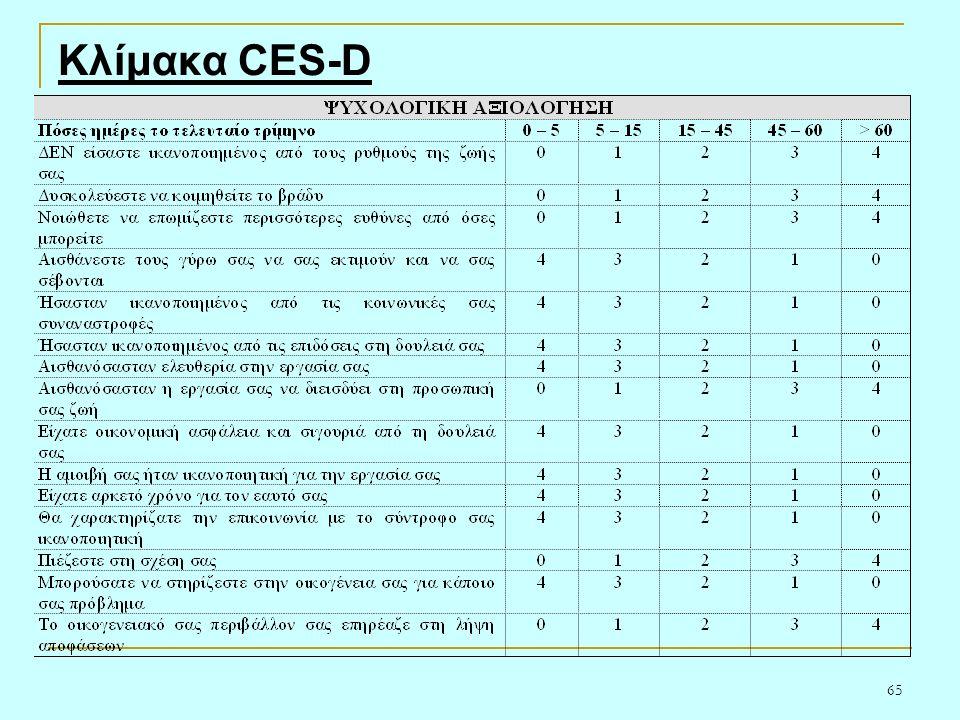65 Κλίμακα CES-D