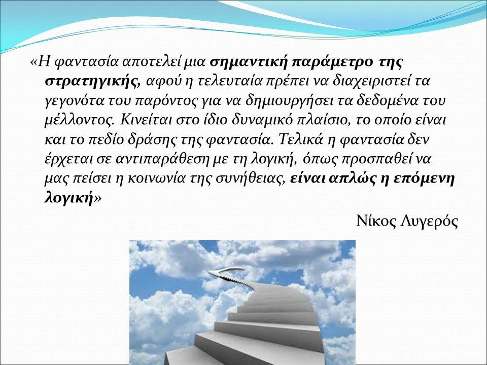 Einstein: « H φαντασία είναι πιο σημαντική από τη γνώση» H φαντασία παράγει και γνώση.