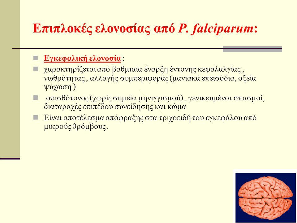Επιπλοκές ελονοσίας από P.