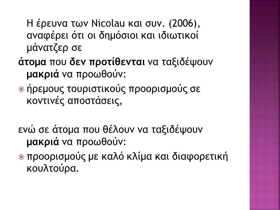 Η έρευνα των Nicolau και συν.