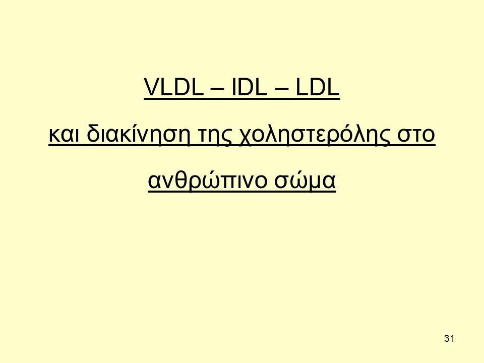 31 VLDL – IDL – LDL και διακίνηση της χοληστερόλης στο ανθρώπινο σώμα