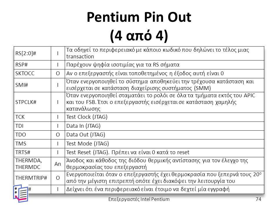 Pentium Pin Out (4 από 4) Επεξεργαστές Intel Pentium74
