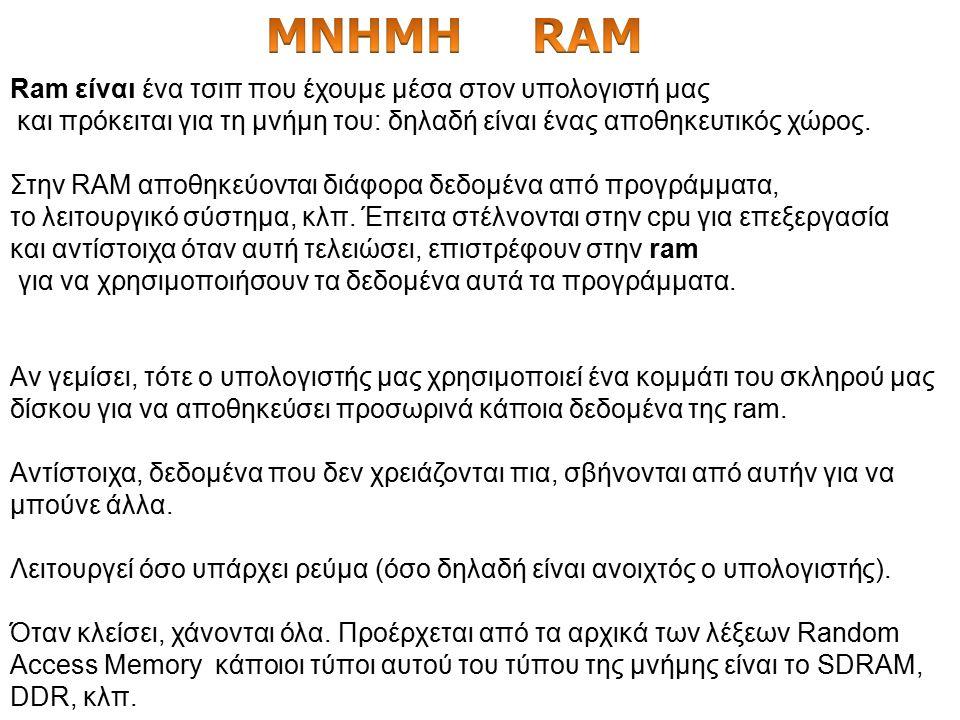 Φανταστείτε απλά ότι η μνήμη ram έχει μέσα της διάφορα δεδομένα τα οποία πρόκειται να στείλει στον επεξεργαστή για να τα επεξεργαστεί. Αντίστοιχα λαμβ