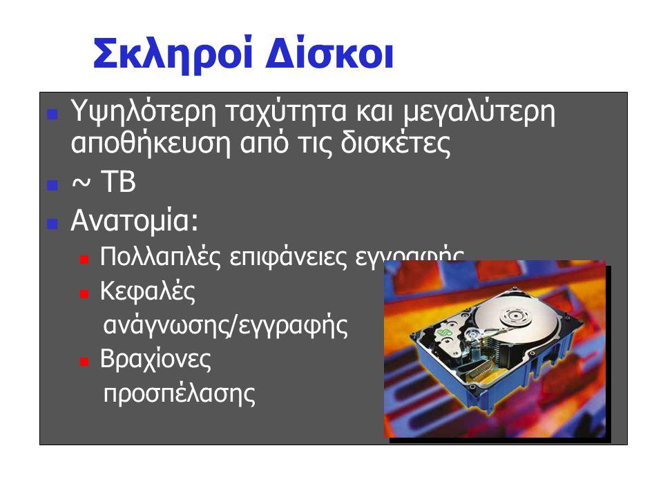 Μαγνητικοί Δίσκοι Magnetic Disk Σκληροί Δίσκοι