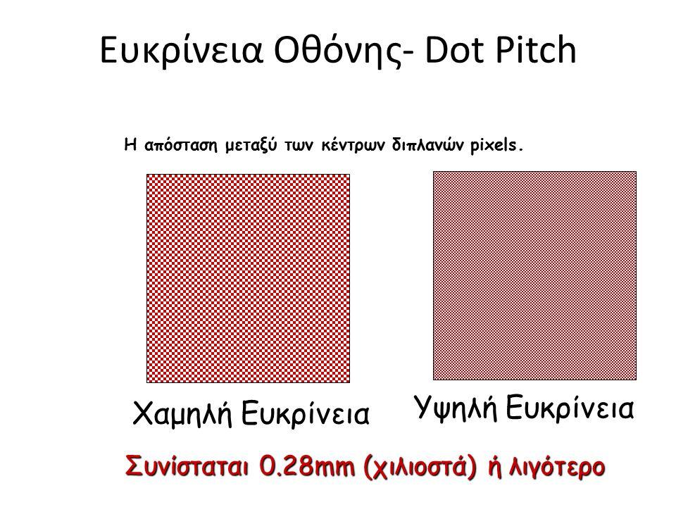 Εικονοστοιχεία (pixels), κουκίδες (dots) και ανάλυση Η εικόνα που παρουσιάζεται στην οθόνη είναι φτιαγμένη από ένα πλέγμα από οριζόντιες και κατακόρυφ
