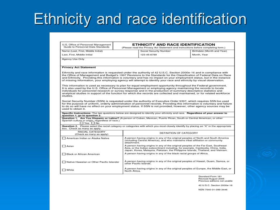 Η οντολογία της φυλής/ εθνότητας  - Ουσιοκρατία: Άσπρο- Μαύρο.